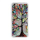 Silver Painting Tree Pattern PC Material Stereoscopic Stars Quicksand Phone Case for iPhone 6 / 6S