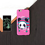 Monster 2 Pattern Luminous Embossed Feel Mobile Phone Back Cover Hard Cases for iPhone 6 4.7 inch
