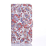 Classical Flowers Pattern PU Leather Full Body Case with Stand for Sony Xperia Z5