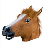 Women's / Men's Rubber Cosplay Halloween Horse Head Party Masks 1 Piece