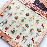 3D Gilding Christmas Series Deer Nail Art Stickers