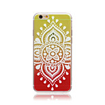 Rainbow Chinese Flowers Style Transparent Soft TPU Back Cover for iPhone 6/6S
