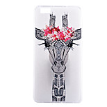 Giraffe Pattern TPU Material Thin Transparent Soft Phone Case for Huawei P8 Lite