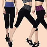 Running Pants/Trousers/Overtrousers / 3/4 Tights / Crop / Bottoms Women's Reduces Chafing Nylon / ChinlonYoga / Exercise & Fitness /