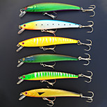 6Pcs Hard Bait Minnow 110mm/10g Fishing Lure Baits Tackle