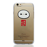 Disney Big Hero 6 Baymax Head Transparent TPU Soft Back Cover for iPhone 6 Plus/6S Plus