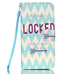 Unlock Pattern PU Leather Phone Case for iPhone 6 Plus/6S Plus