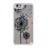 Silver Two Dandelions Pattern PC Material Stereoscopic Stars Quicksand Phone Case for iPhone 6 / 6S