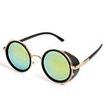 Sunglasses Men / Women / Unisex's Elegant / Retro/Vintage / Fashion Round Black / Silver / Brown / Gold Sunglasses Full-Rim