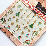 3D Gilding Christmas Series Birdie Nail Art Stickers