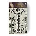 RFK06 King Horse Tattoo Stickers Non Toxic / Tribal / Hawaiian / Waterproof Flower Series 5pcs