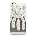 Feather Dreamcatcher Pattern TPU Relief Back Cover Case for iPhone 5/iPhone 5S