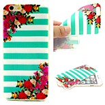 Stripe Flower Pattern Phone Shell Thin TPU Material for iPhone 6/6S