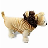 Pet Clothes Brown Cosplay Cotton / Polar Fleece Hoodies For Dogs / Cats