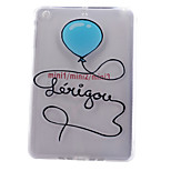 Blue Balloons Tower Pattern Soft Plastic Protective Shell for iPad Mini 3/2/1