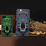 Animal 4 Style Pattern Luminous 3D Embossed Feel Phone Back Cover Protective Case for iPhone 6 Plus 5.5 inch