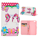Butterfly Pattern Card Stand Leather Case for iPhone 6/6S