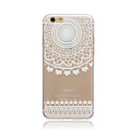 White Wind chime Style Transparent Soft TPU Back Cover for iPhone 5/5S