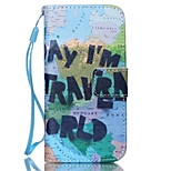 Global World Pattern PU Leather phone Case for iPhone 5/5S