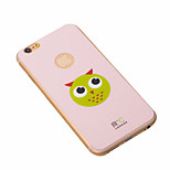 cute pink anti-radiação iphone6 mais caso de refrigeração grafeno telefone autocolantes cobrir com a coruja para iphone6 maçã mais