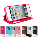 PU Open the Window Mobile phone Holster for iPhone 5/5S Assorted Color