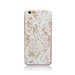 White Rose Style Transparent Soft TPU Back Cover for iPhone 5/5S