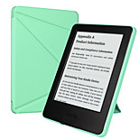 ESR Yippee Color Series Patented Tri-fold Design Glare-Free PU Leather Magnetic Smart Case for Kindle 7th Gen-Mint Green