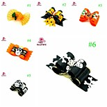 FUN OF PETS® Cute Halloween Pumpkin Skeleton Hair Grooming Accessories Rubber Hair Bows Dogs Charms Gift for Pets Dogs