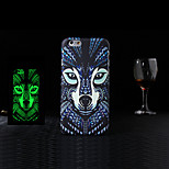 New Animal 1 Style Pattern Embossed Feel Black Fluorescence Mobile Phone Cases Back Cover for iPhone 6 4.7 inch