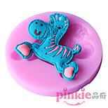 Colored pony  Fondant Cake Cake Chocolate Silicone Molds,Decoration Tools Bakeware