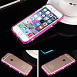 Drill Frame Transparent TPU Protective Sleeve Combo with Metal Cases for iPhone6/iPhone 6s(Assorted Colors)