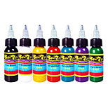 Solong Tattoo Ink 7 Colors Set 1oz 30ml/Bottle Tattoo Pigment Kit