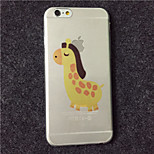 MAYCARI® The Lovely Horse Transparent Soft TPU Back Case for iPhone 6/iphone 6S