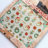 3D Gilding Christmas Series Wreath Nail Art Stickers