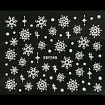 3D Christmas Snowflake Dot Nail Art Stickers
