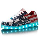 för män ledde skor usb utomhus / parti& kväll / idrotts- / fritidsläder mode sneakers blå / röd