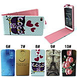Cartoon Flip-Open Up PU Leather Phone Full Body Case Cover with Card Slot for Huawei Ascend P8