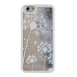 Silver White Dandelion Pattern PC Material Stereoscopic Stars Quicksand Phone Case for iPhone 6 / 6S