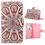Flos Daturae Pattern Card Stand Leather Case for iPhone 6/6S