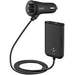 Belkin 4 Port Car Charger(7.2A,36W) with 1.8m Extension Hub for iPhone/iPad