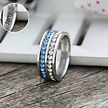 Personalized Gift Jewelry Rhinestone Stainless Steel Engraved Rings