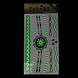 GYG04 King Horse Tattoo Stickers Non Toxic / Tribal / Hawaiian / Waterproof Flower Series Child / Women 5pcs