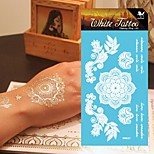 King Horse® Henna Tattoo Stickers Non Toxic/Hawaiian/Waterproof Flower Series Paper 5pcs 20.5*10cm