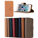 Soft Tiger Frosted Holster PU Leather Full Body Cases Cover with Card Slot and Stand for iPhone 5