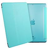 esr yippee serie del color ligero tri-fold estuche protector de cuero de la PU para el ipad mini-3/2/1-azul cielo
