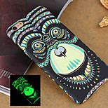 Animal 3 Style Pattern Embossed Feel Black Fluorescence Mobile Phone Cases Back Cover for iPhone 6 4.7 inch