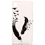 Feather  Pttern TPU Soft Cover for Sony M4
