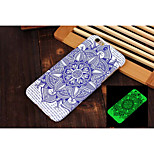 New Datura Flowers Pattern Luminous Embossed Feel Phone Back Cover Case Protective Shell for iPhone 5/5S