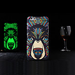 New TPU+Plastic Luminous Embossed Feel Phone Back Cover Protective Shell/Skin for iPhone 5/5S