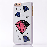 Trendy Crystals Filled Heart Designed Hard Case for iPhone 6 plus/6s plus (Assorted Colors)